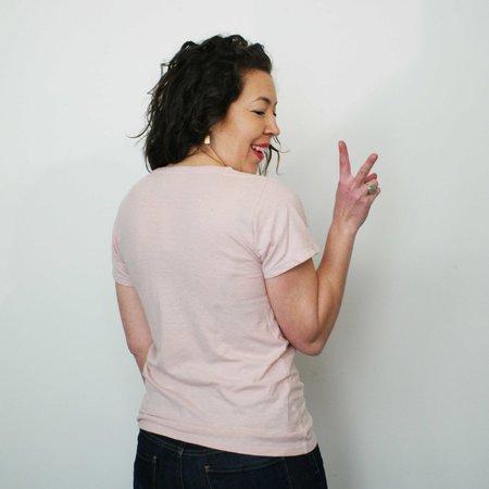 Jungmaven Baja Short Sleeve Tee in Eraser Pink