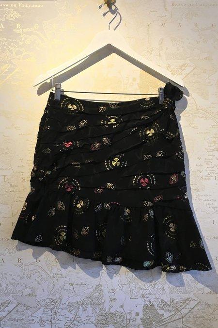 A.L.C. Avalon Mayan Gold Print Mini Skirt