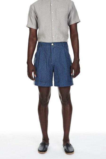 Blluemade Linen Shorts in Indigo