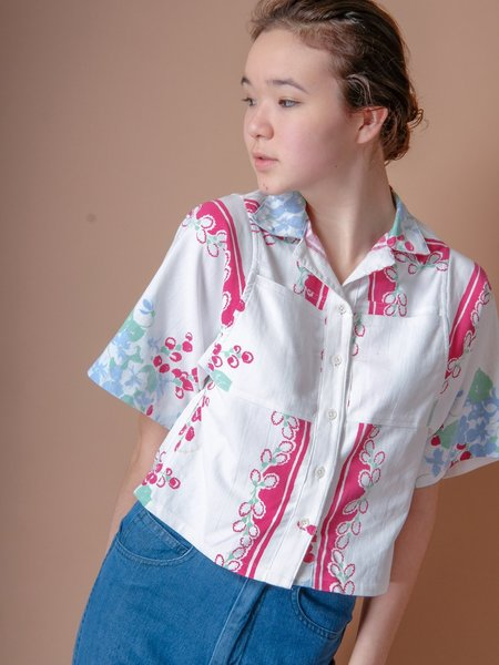 BODE RED FLORAL LEISURE SHIRT