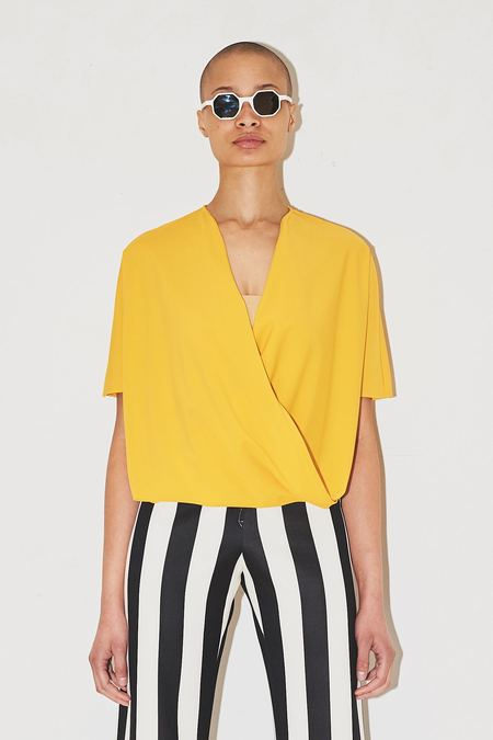 Assembly New York Yellow Spandex Twist Top
