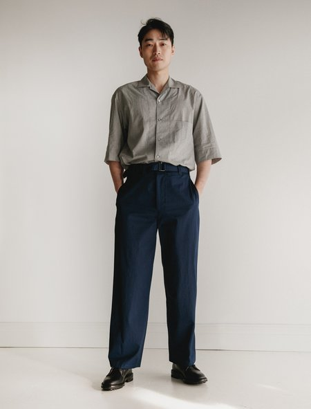 Lemaire Belted Pants - Blue