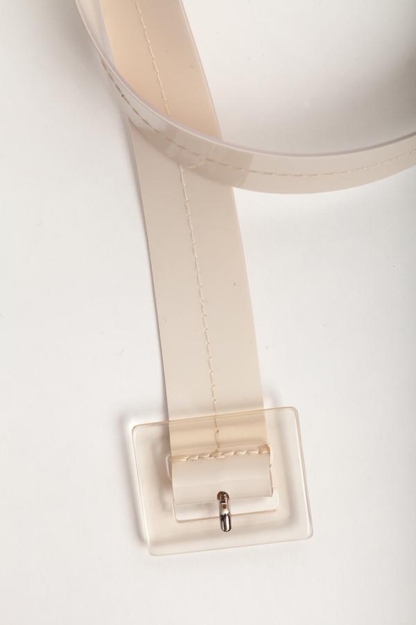 Maryam Nassir Zadeh Soledad Belt in White Opaque