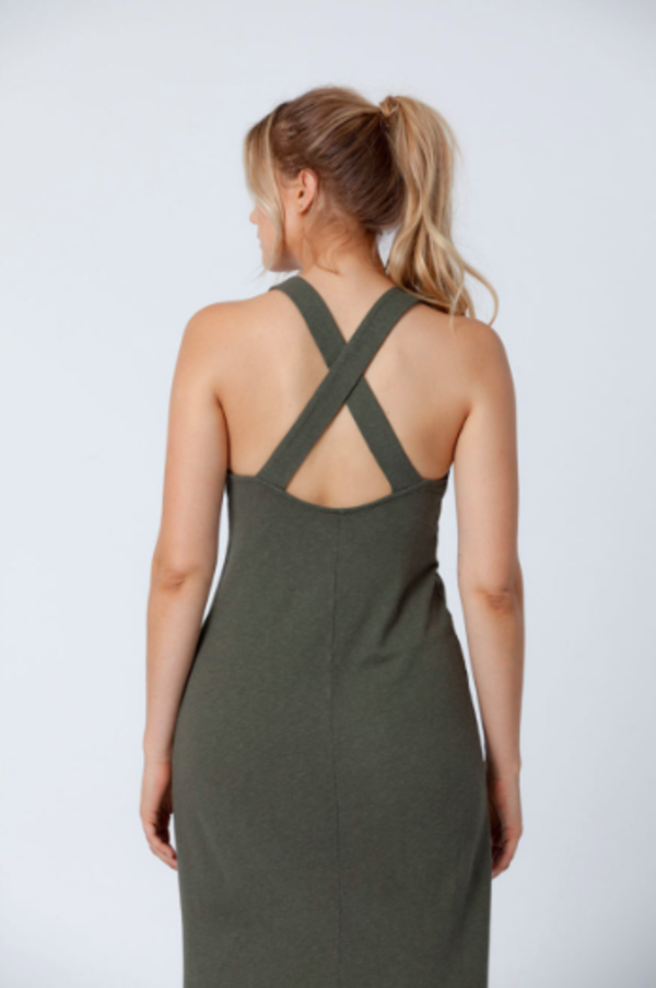back beat rags Forest Apron Midi Dress