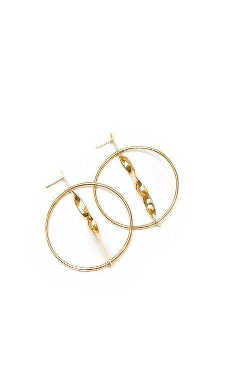 Faeber Studio Torquent Hoop Earrings