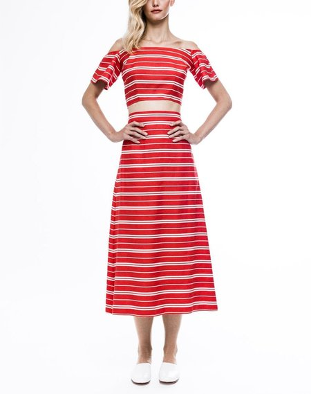 Chistine Alcalay Striped A-Line Skirt