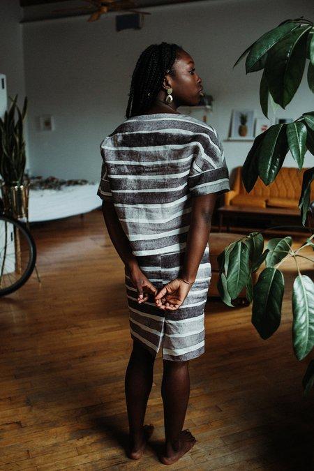 Valerie Dumaine Channing Dress - Striped