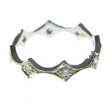 Cathy Waterman Ring - Elongated Geo Band