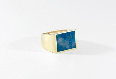 Legier Blue Chrysocolla Stone Signet Ring