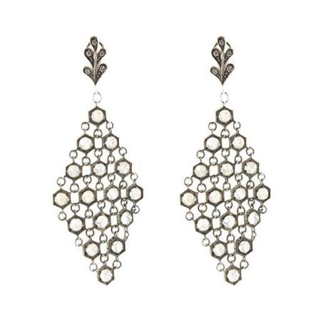 Pippa Small Earrings - Moonstone Mesh