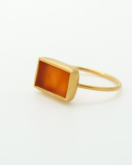 Pippa Small Ring - Carnelian Wire Cup