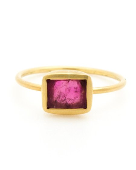 Pippa Small Ring - Pink Tourmaline & Gold