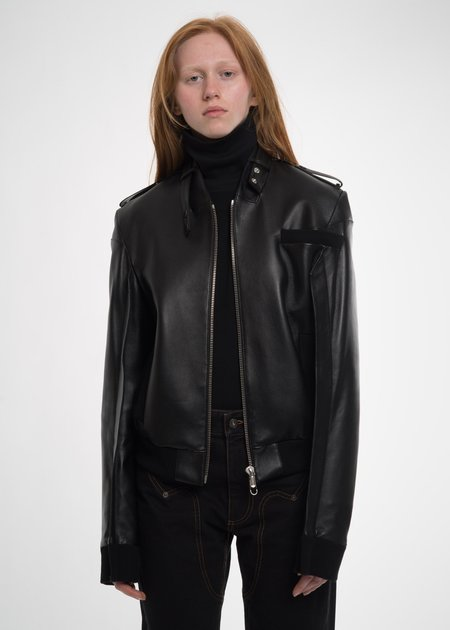 Helmut Lang Black HL Members Only Jacket