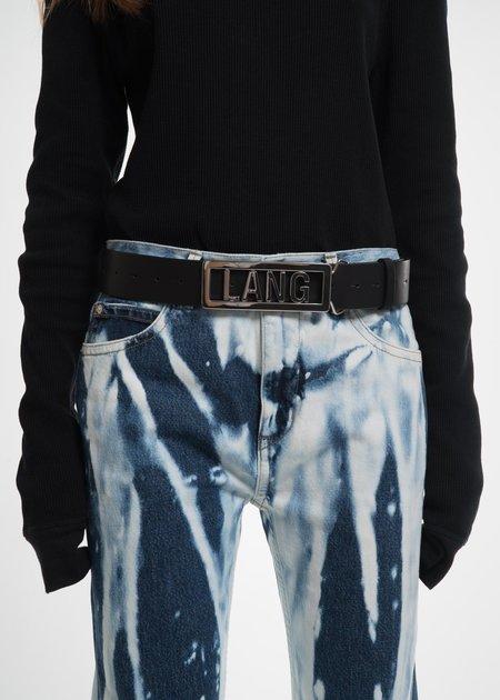 Helmut Lang Black Lang Name Plate Belt