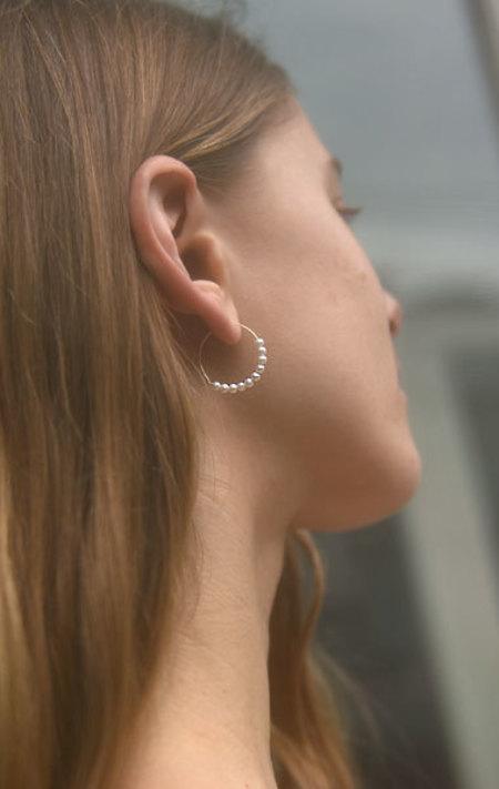 Saskia Diez Barbelle Pearl Hoop