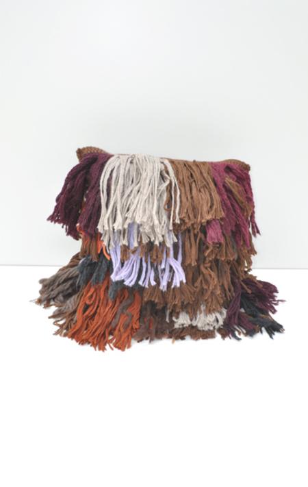 A Détacher Hairy Pillow - Multi-Coloured
