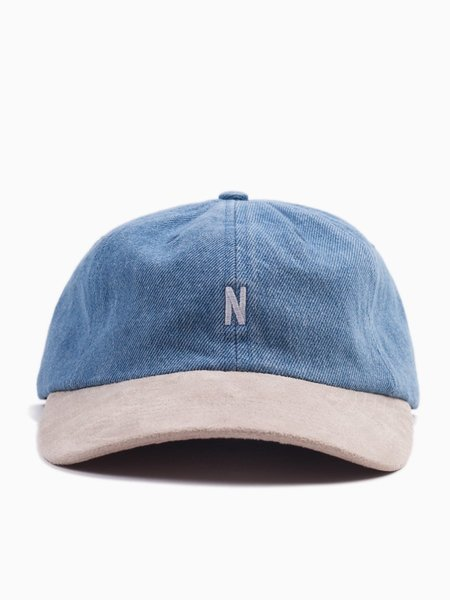 Norse Projects Denim Sports Cap Sunwashed