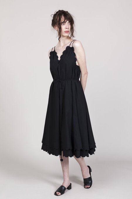 Apiece Apart Mirage Scallop Dress - Black