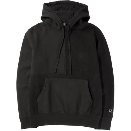 BRAIN DEAD PANELED PULLOVER HOODY - CHARCOAL