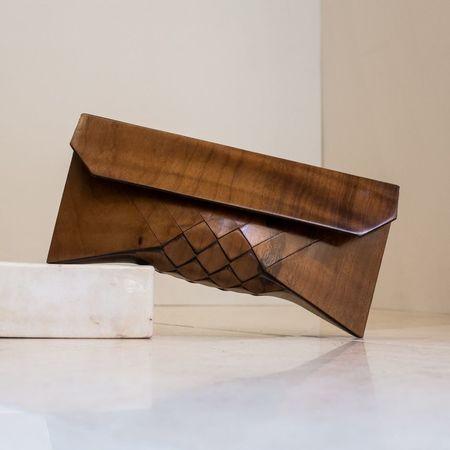 Tesler Mendelovitch Emboya Wooden Clutch