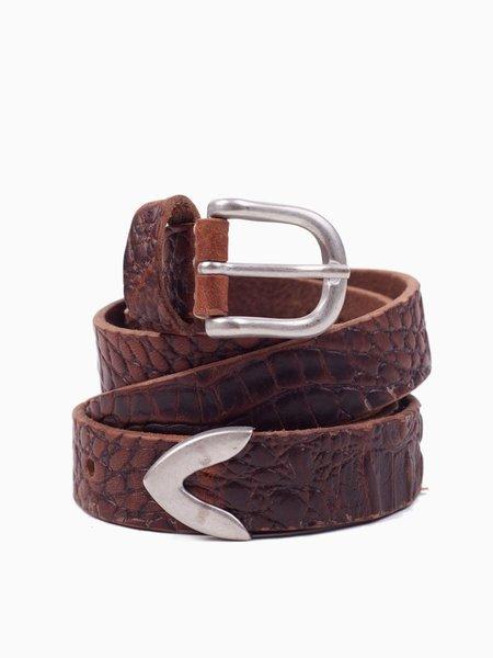 Our Legacy Belt - 2.5cm Croc Pattern
