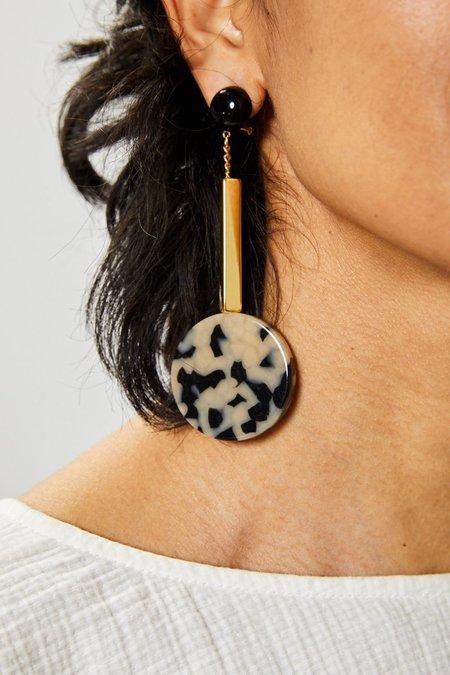 Rachel Comey Jo Earrings - Dalmation Gold