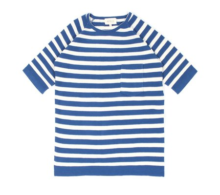 Afield Knitted T-Shirt - Blue