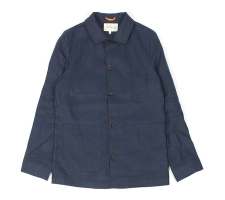 Afield Kovacs Worker Jacket - Navy Linen