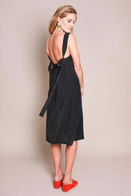 No.6 Chris Cross Back Dress in Black