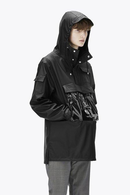 Unisex Rains Glossy Camp Anorak - Black