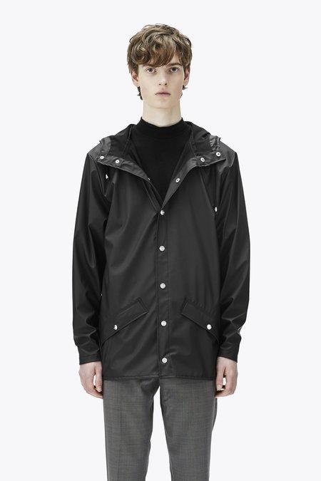 Unisex Rains Glossy Jacket - Black