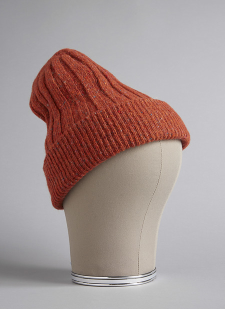 Grei Donegal Double-Sided Oversized Beanie In Rust
