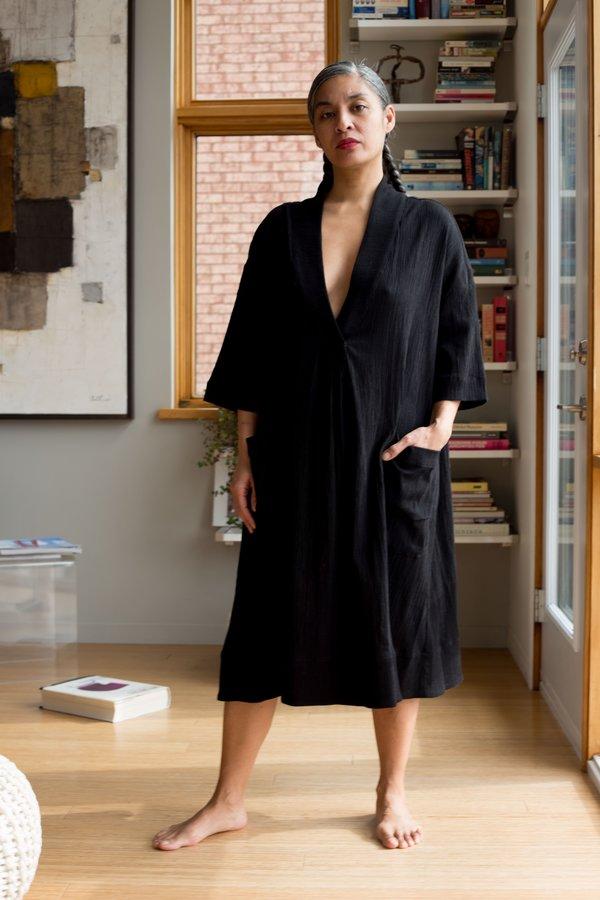 Sunja Link Pullover Dress - Black