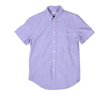 Portuguese Flannel Dobby Short-Sleeve Shirt - Blue