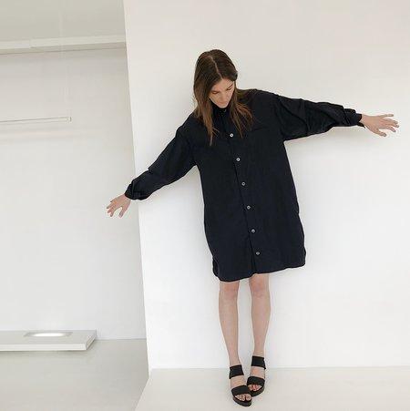 Tanaka Black Long Button Down Shirt