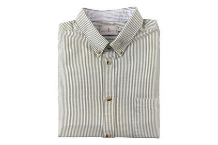 Cuisse de Grenouille Enjole Green White Stripe Shirt