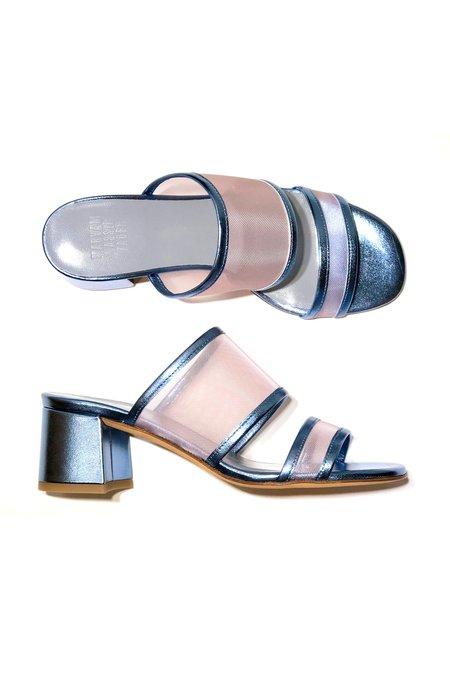 Maryam Nassir Zadeh Martina Mesh Slide - Steel Calf/Blush Mesh