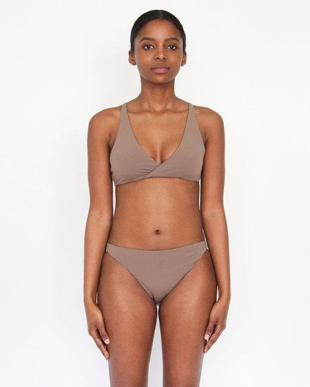 Esby Swim Leah Cross Top - Pecan