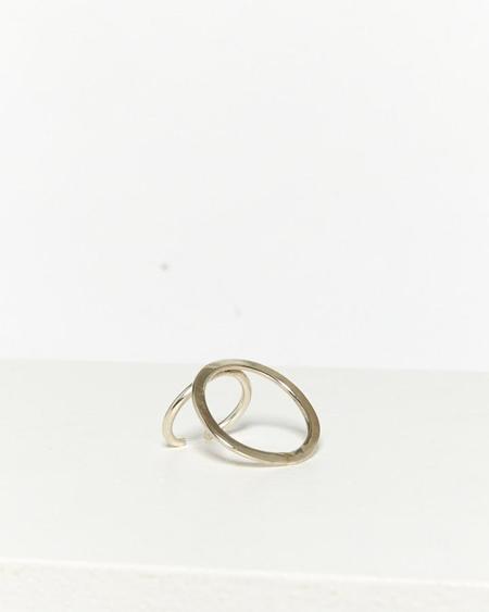 Rbc Large Silver Circle Ring