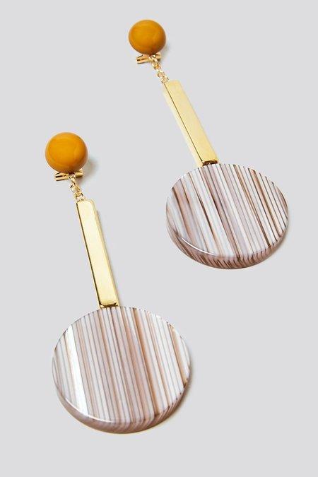 Rachel Comey Jo Earrings - Stripe Gold