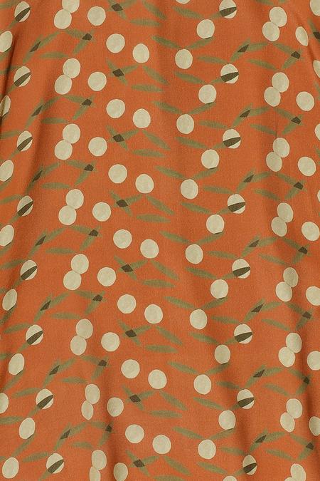 Samuji Kendra Dress - Orange/Ecru/Olive Green