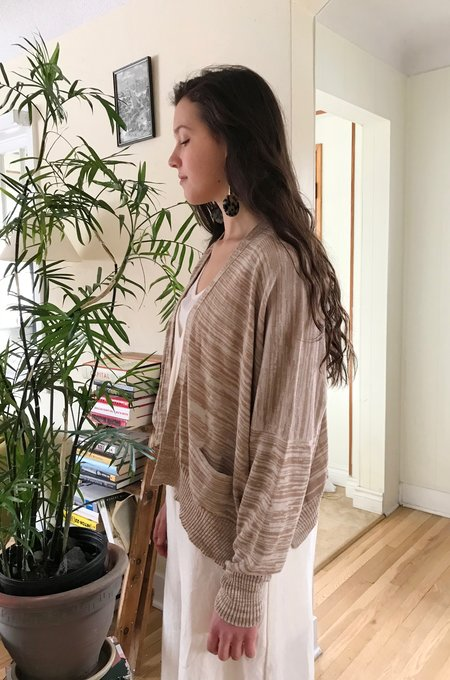 Lauren Manoogian Normal Cardigan in Bisque + Crudo