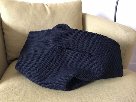 Lauren Manoogian Crochet Bowl Bag in Black