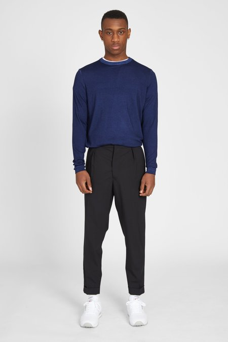 PRESIDENTS CASHMERE WOOL CREW SWEATER - NAVY