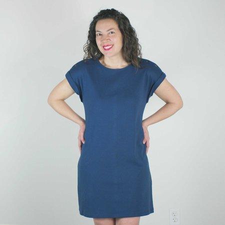 Atelier b. Jersey Straight Cut Dress in Navy