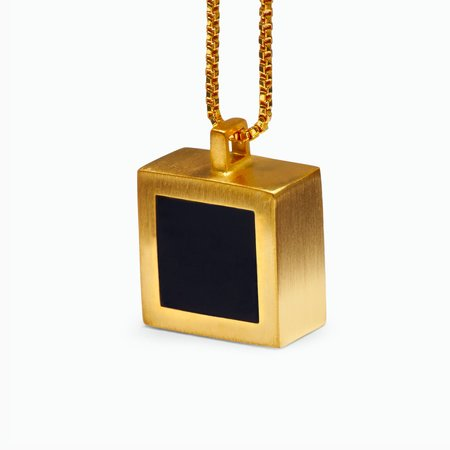 MING YU WANG Piet Pendant necklace - 18k gold plated/brass