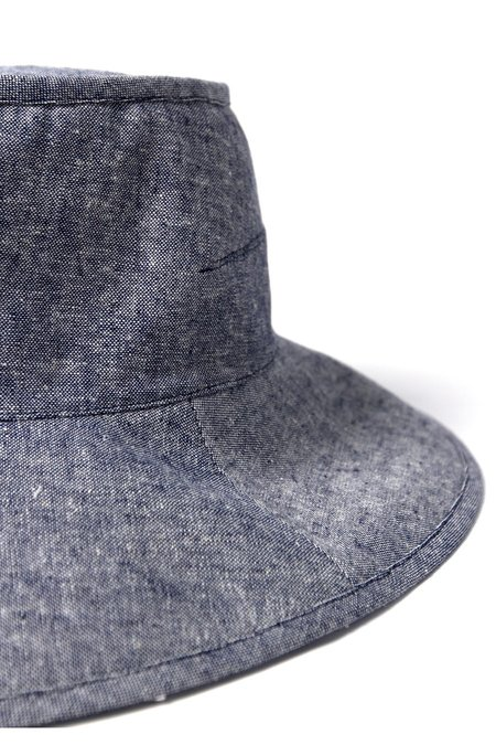 Tsuyumi Mid Brim Block Top - Chambray