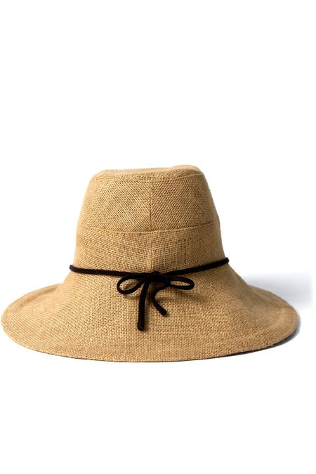 Tsuyumi Wide Brim Straw Sun Hat - BROWN