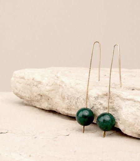 Maaari Gravity Threads Earrings - Jade