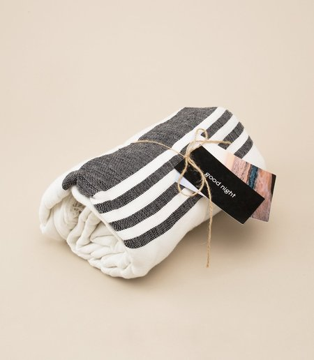 Locano Inabel Blanket - Black Stripe